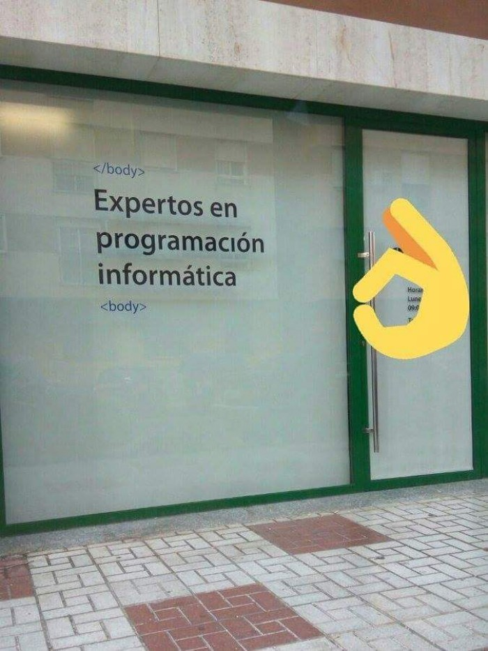 Experts Programming. Luckily HTML is not a programming language.