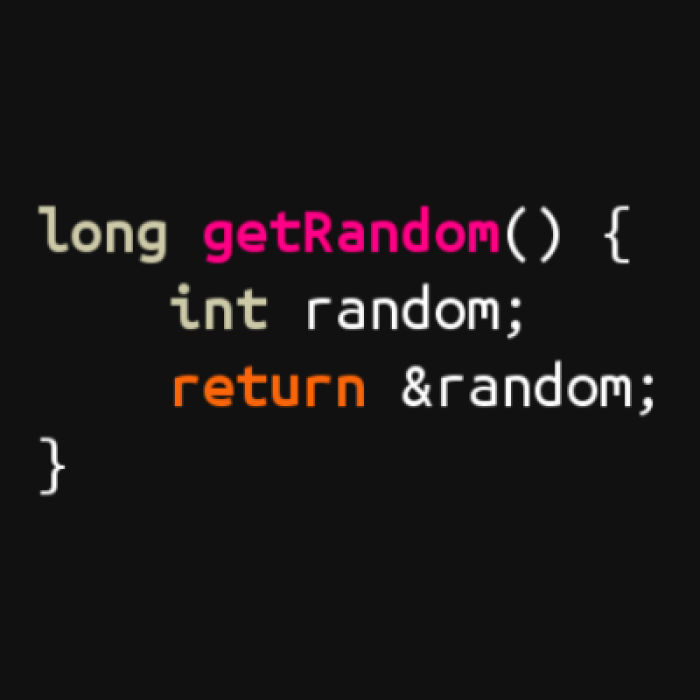 No need for rand() and all that