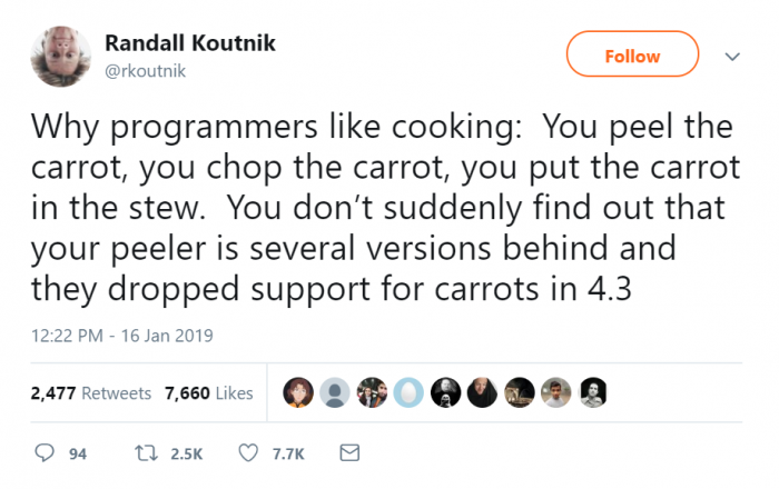 Why programmers like cooking