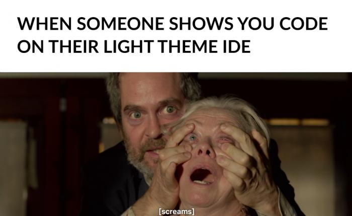 Light theme IDE