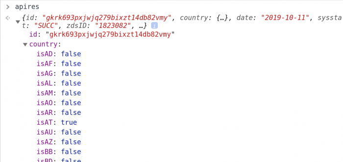 The API I am dealing with has found THE BEST WAY to represent the country field.