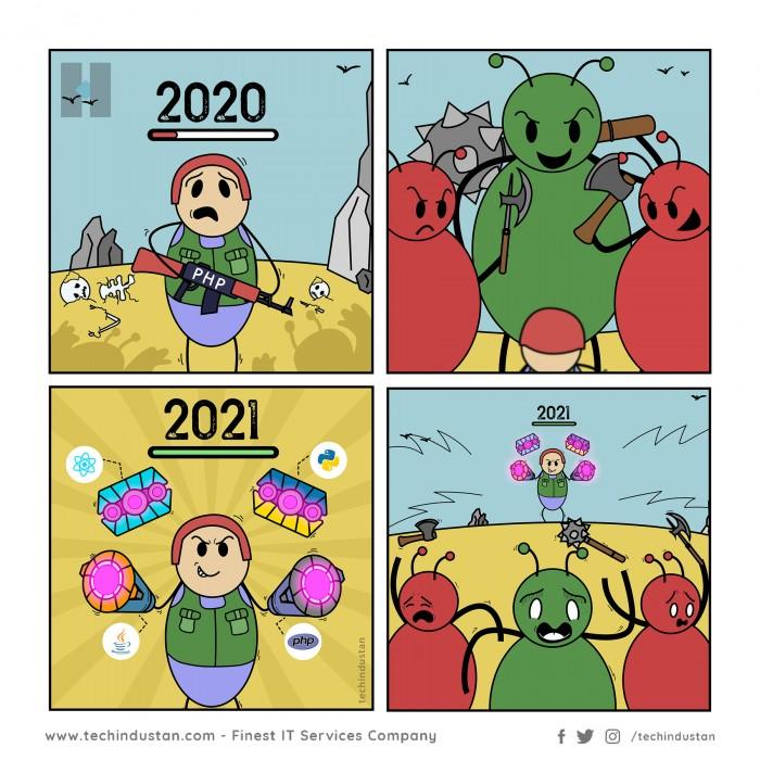Programmer Entering into 2021 Like | Programming Comic Memes
