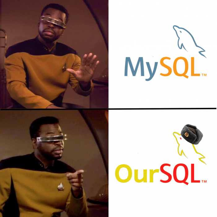 oursql > mysql