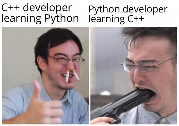 What happens when C++ Developer is learning Python