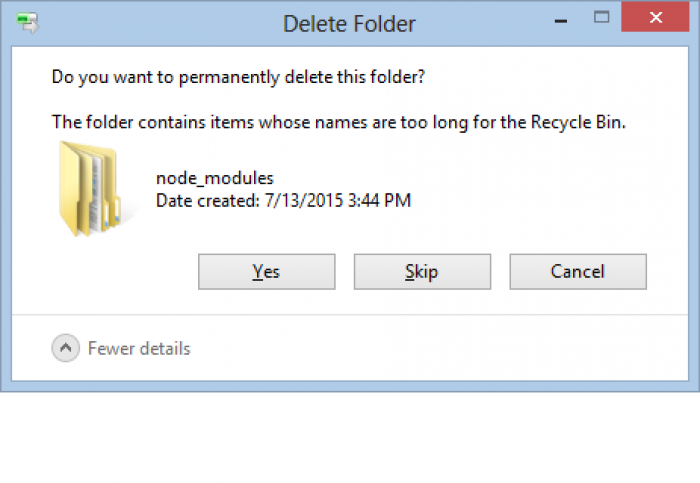 TIL names have a max length in the recycle bin.