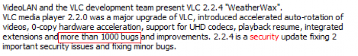 """""""Introducing more than 1000 bugs and improvements"""""""