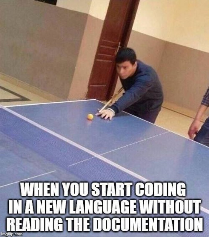 Coding in a new language