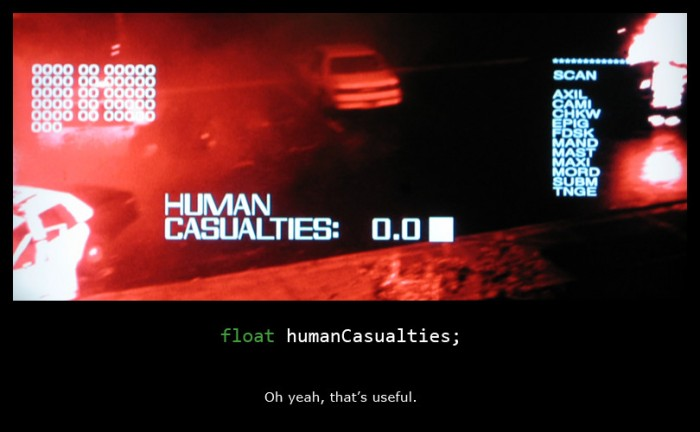 float humanCasualties;