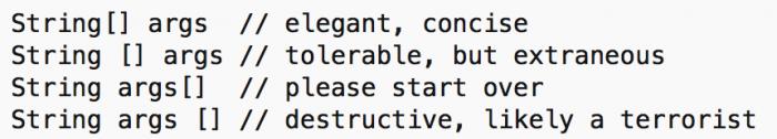 Proper Java coding style