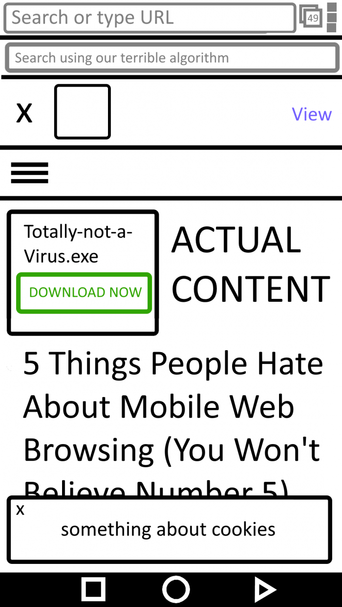 The typical mobile browsing experience these days...