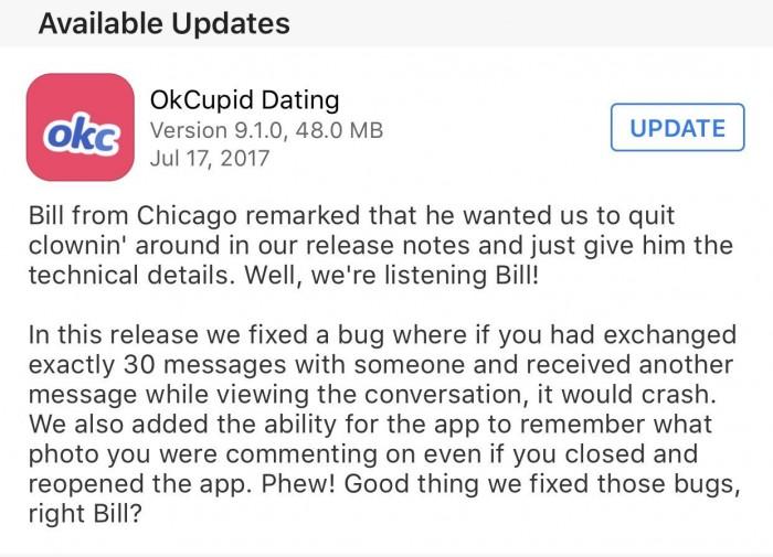okcupid updates