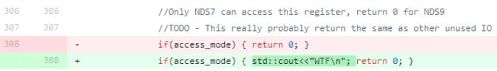 Important debug output