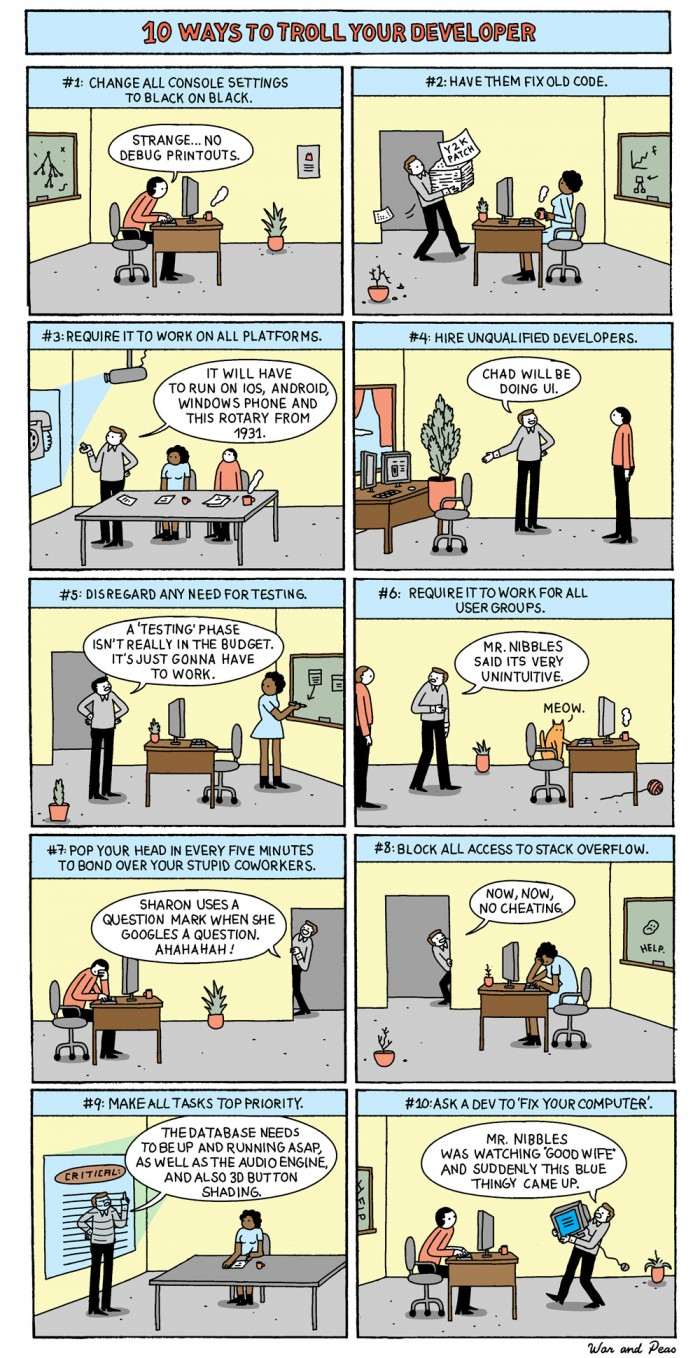 10 Ways To Troll Your Developer