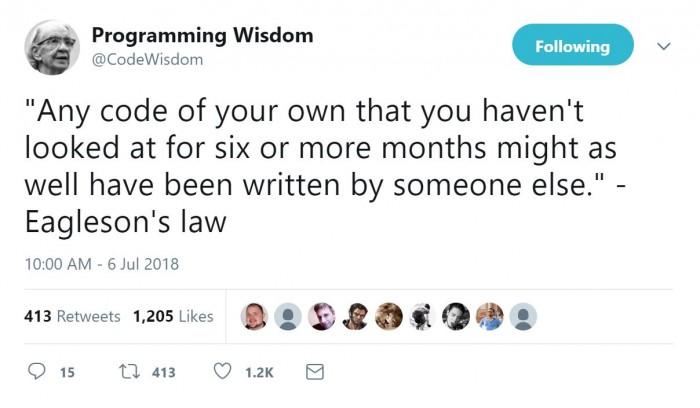 Eagleson's law