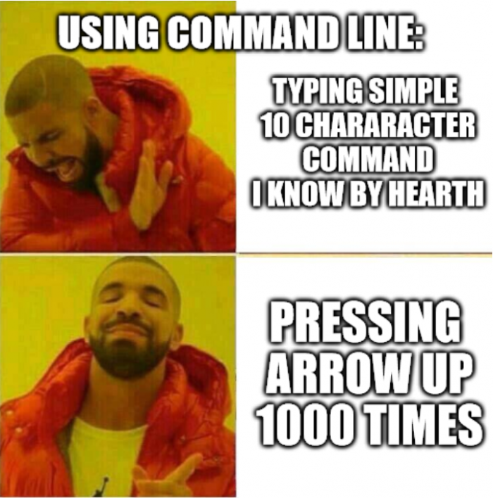 DRY in command line