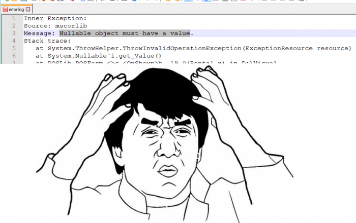 Got this error today while debugging, I was literally speechless for a minute.