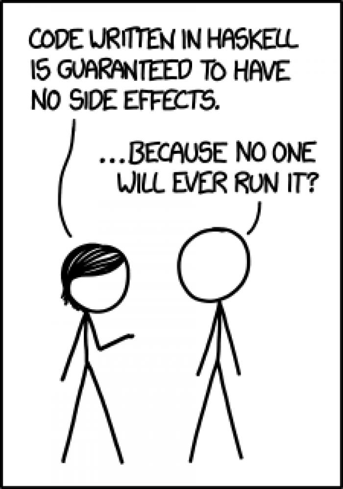 code written in Haskell