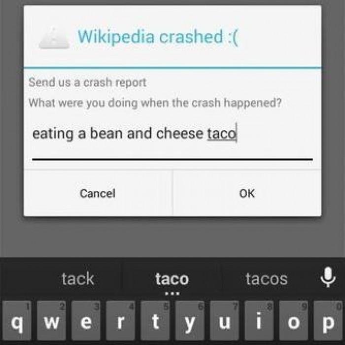 Helpful Error Report