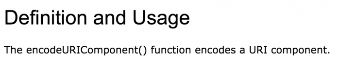 Thanks for clearing that up W3 schools.