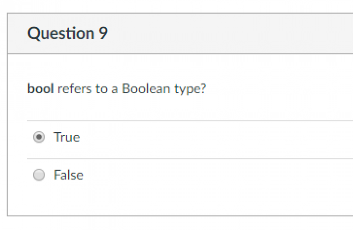 My personal favorite question on a recent quiz.