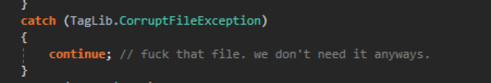 I was looking through some of my old code. I guess I wasn't having a good day.