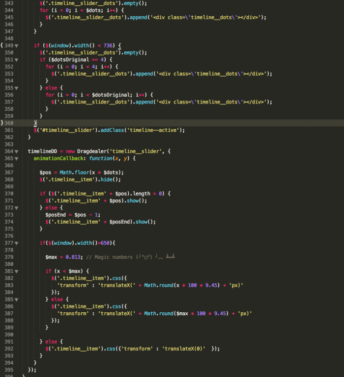 The one comment in 1000 lines of jQuery