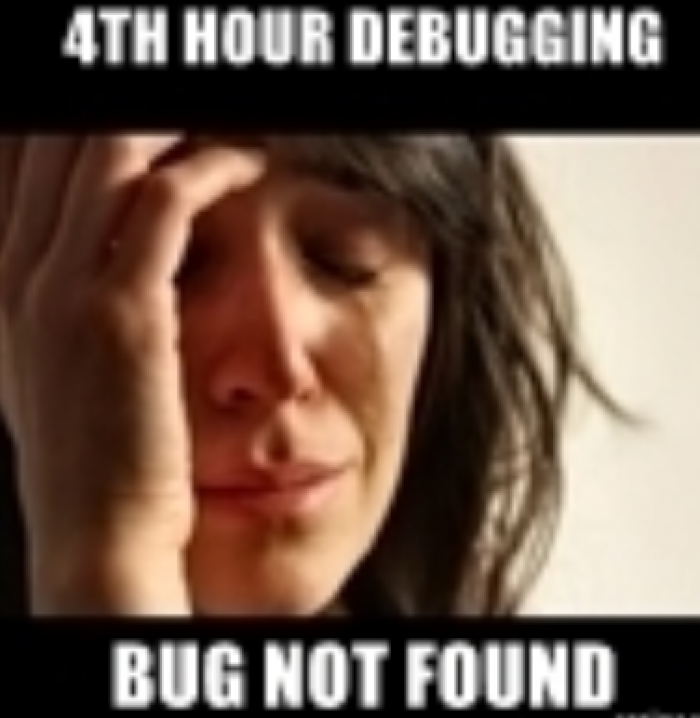 Debugging be like...