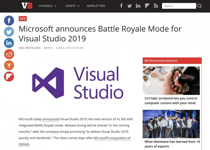 Battle Royale Mode for Visual Studio
