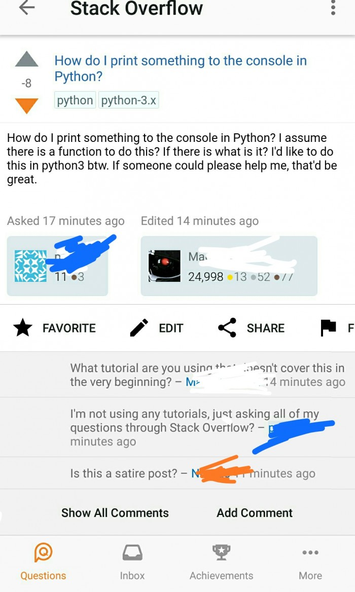 I'm not using any tutorials, just asking all of my questions through Stack Overflow?