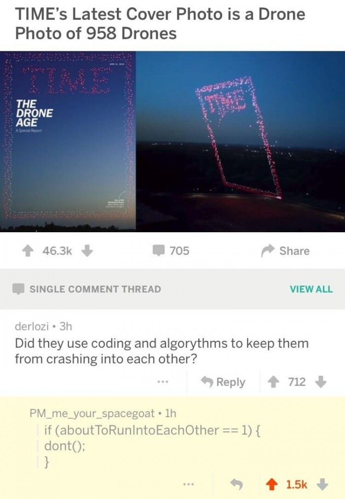 Redditor explains how TIME's drones don't crash