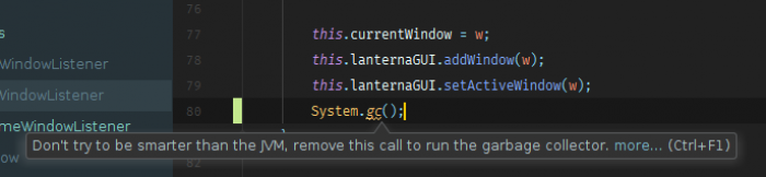 IntelliJ has no chill with these passive-aggressive warnings