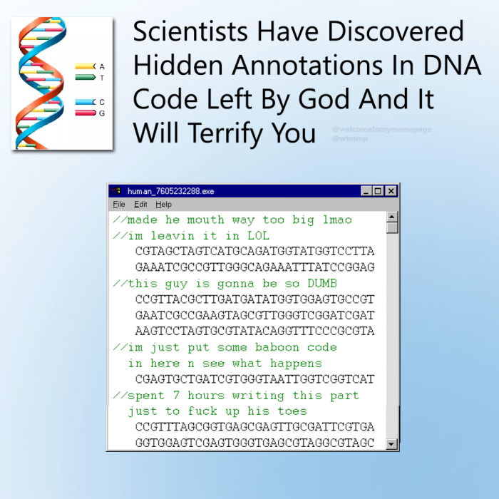 Scientists have discovered hidden annotations in DNA code left by God and it will terrify you