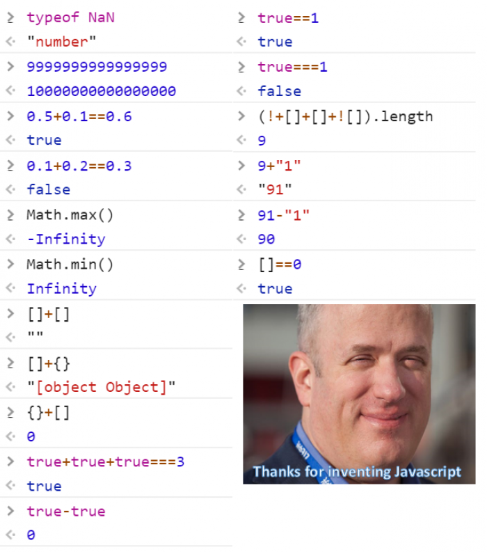Thanks Brendan for giving us the Javascript