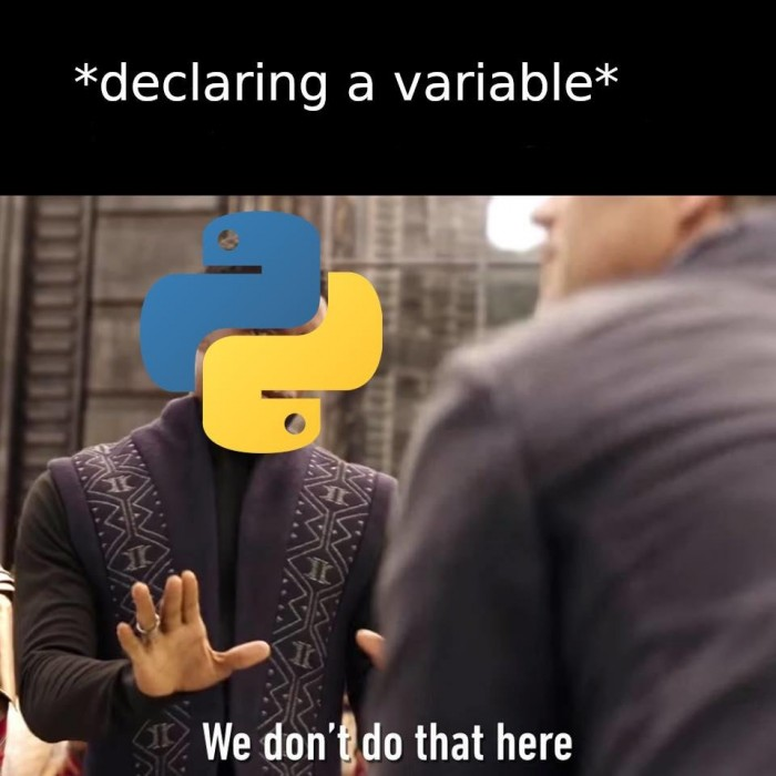 When you get your hands on Python for the first time