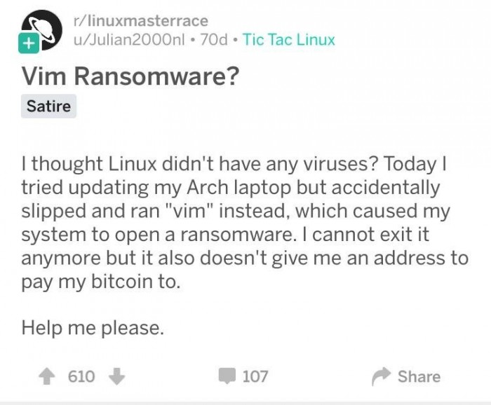 Vim Ransomware?