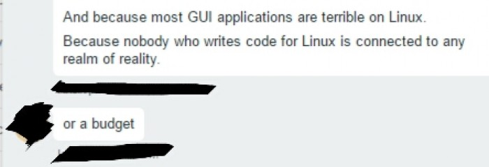 My boss and coworker on Linux