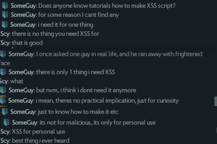 XSS for personal use