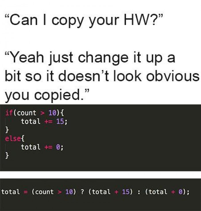 Ternary operators are great.