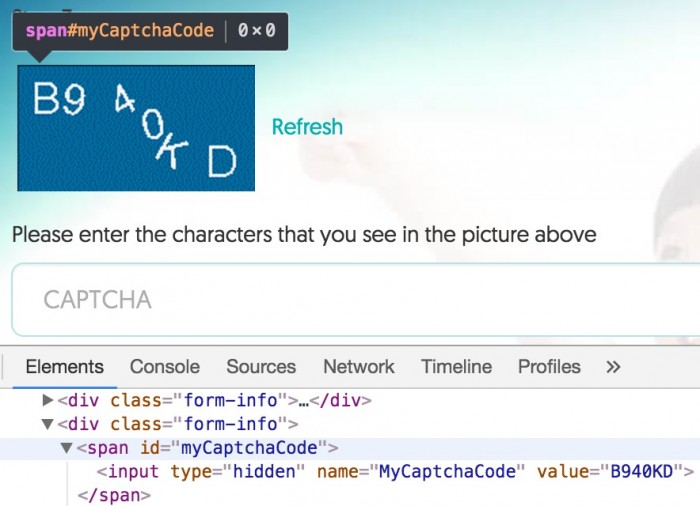 Captcha Implementation: ✓
