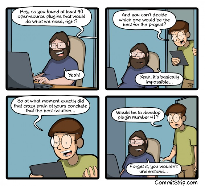 [commitstrip] One more plugin