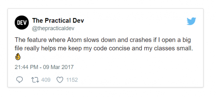 The feature where Atom slows down and crashes if I open a big file