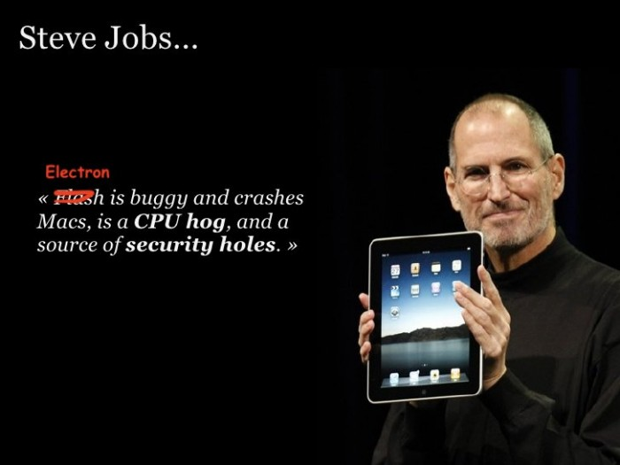 Steve Jobs on Electron.
