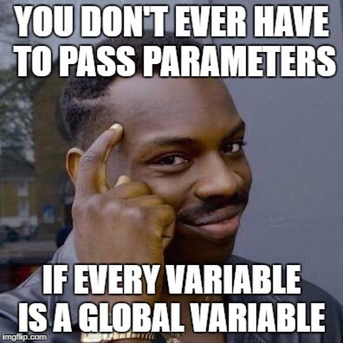 Why I never worry about function or class parameters