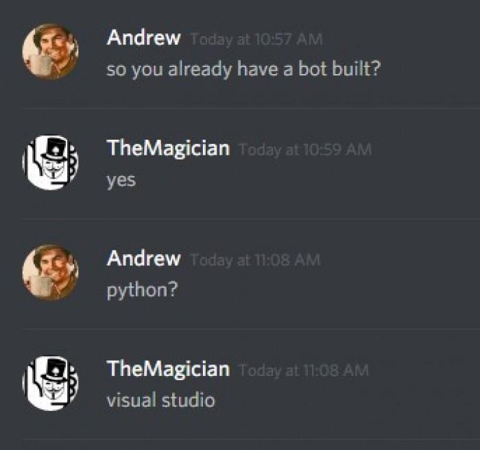 What programming language do you use? :/