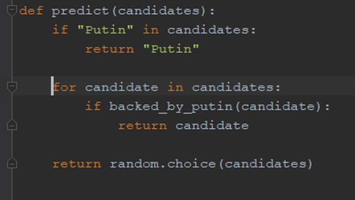 Predicting results of presidential elections