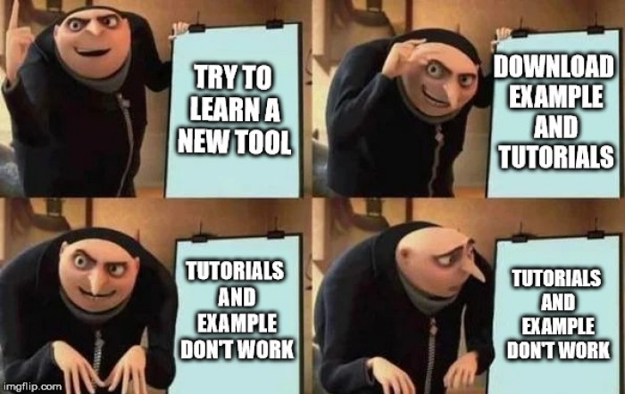 gru learns a new tool