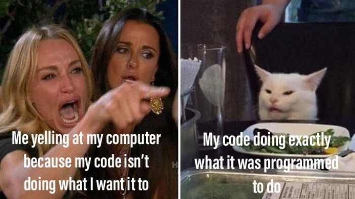 My code doing exactly what it was programmed to do