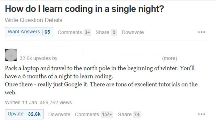Coding in a single night
