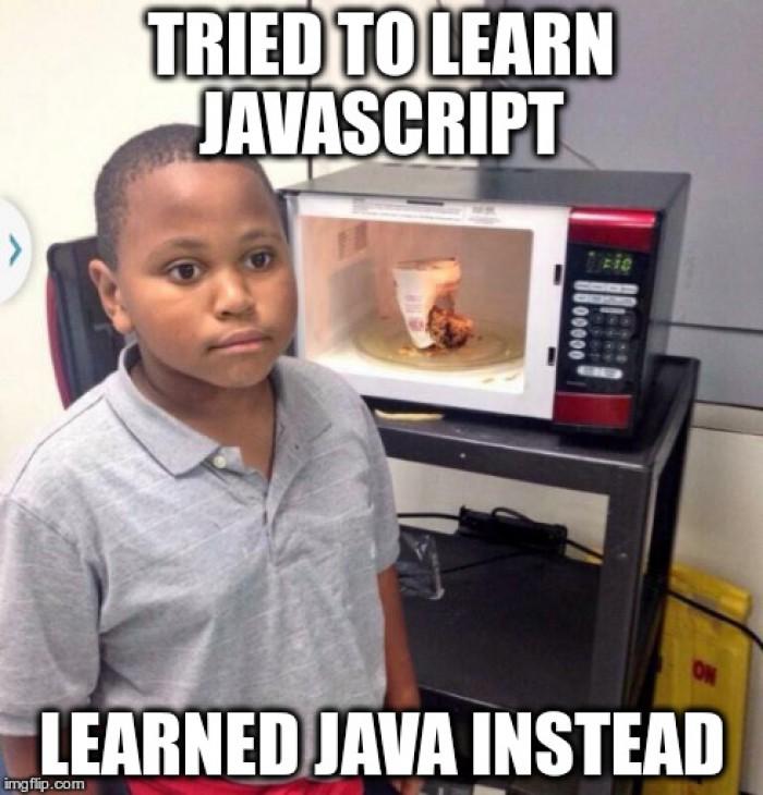 I tried learning Javascript...