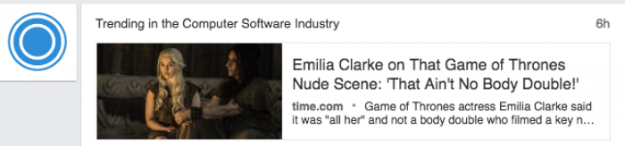 According to Linkedin, Emilia Clarke nude is trending in the Software Industry